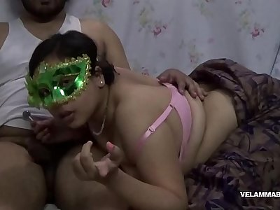 Velamma Sucking lollypop With Her Indian Lover And Sucking His Big Cock