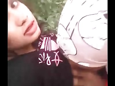 girl self shooting sex with boyfriend in forest