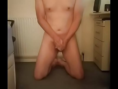 Little chinese submissive jerking for mistress