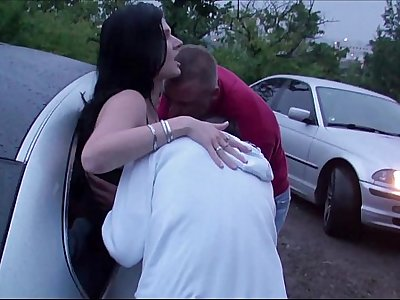Extreme PUBLIC dogging foursome with a pregnant girl
