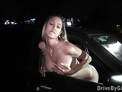 Kitty Jane at a PUBLIC dogging location for anonymous gang bang sex orgy